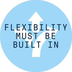 Flexibility must be built in